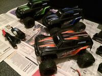 La Trax Teton radio controlled electric monster trucks x3