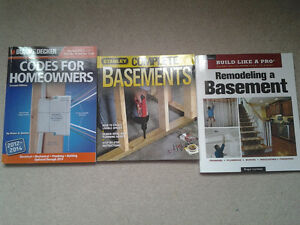 Basement Renovation Books $30