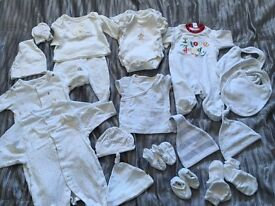 Baby clothes bundle to fit up to 1 month all neutral