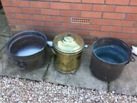 Brass and cooper pots