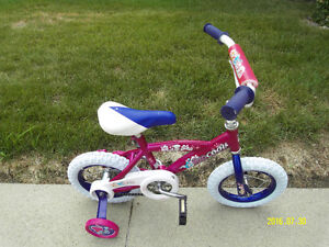 "Girl 12"" bike new tires rear & front, new training wheels"