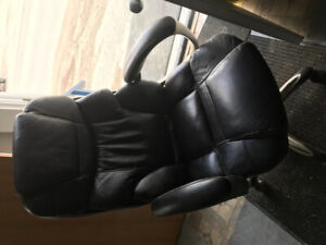 Deluxe leather office chairs X 3