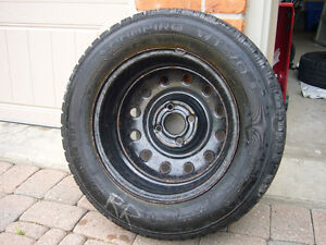 Snow tires on steel rims $400 London Ontario image 2