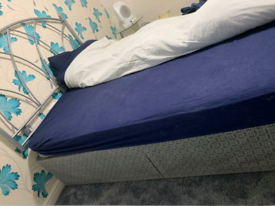 Beautiful Queen Bed with matching mattress and headboard