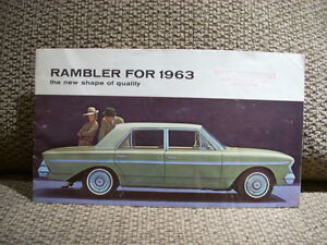 1963 rambler sales brochure