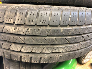 225 65 R17 Continental all season Tires good for 2 seasons