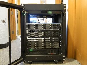 $1000 OBO - Dell BTO 14U DC  Rack Cabinet w/ 4 servers and UPS