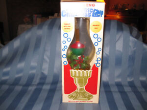 Vintage Christmas Electric Bubbling Lamp