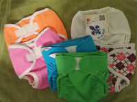 Cloth diapers and covers - couches lavables