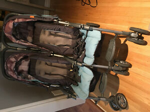 Combi double side by side stroller - good condition