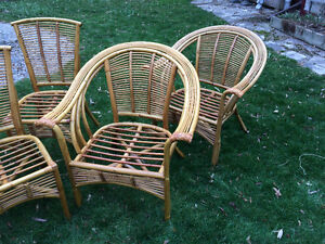 Rattan chairs for sale London Ontario image 1