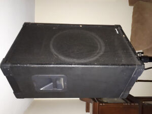 PA SYSTEM.  KLIPSCH KP-320 with QSC amp.