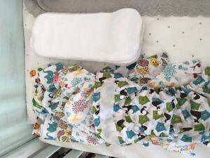 Petit lot couches lavables LPO à velcro à vendre
