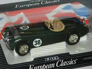 Ertl 1/18 Scale 1948 Jaguar XK120 #38 Racing Diecast Car