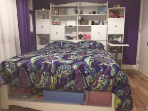 White Double Bedset for Youth