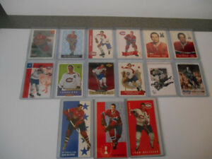 LOT DE 15 CARTES DE HOCKEY DE JEAN BELIVEAU