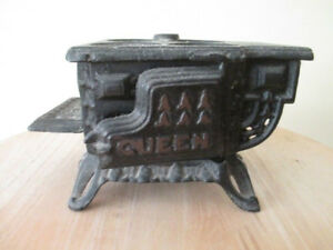 Antique miniature cast iron stove
