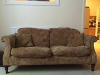 3 piece suite with 3 seater Sofa and 2 Chairs