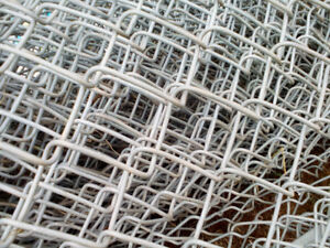 heavy wire fence