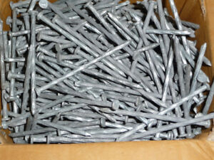 """3.5"""" Spiral Nails  .... Hot Dipped Galvanized  .... 18 Pounds"""