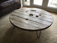 Industrial Distressed Coffee Table - Delivery Available