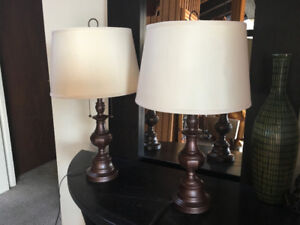 2 Table Lamps - Solid Brass