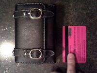 Harley Davidson cell phone carrier/ Roots Leather gloves