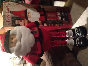 Decorative snowman and santa