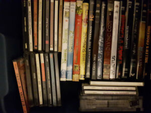Dvd's and CD's.