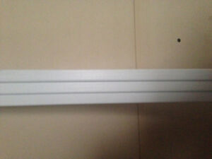 2.25 inch painted white baseboard