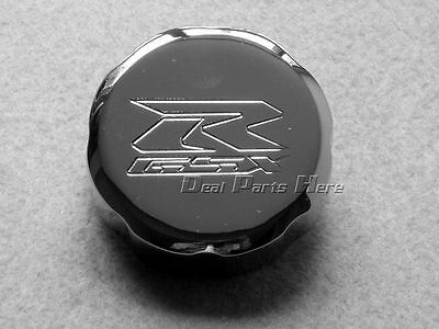 Billet Front Brake Fluid Reservoir Cap CHROME For SUZUKI GSXR  600 750 1000 - Billet Brake Fluid Cap