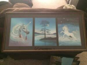 <3<3Magical And Mystical Unicorn Laser Etched Hanging Picture<3<3