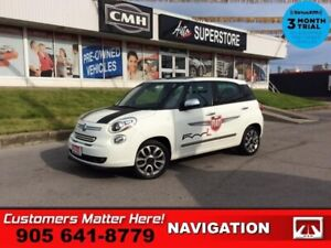 2014 Fiat 500L Lounge  NAV LEATH HS PANO-ROOF ALLOYS FIAT-DECALS