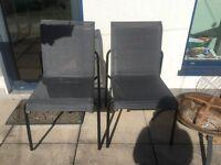 Ikea garden chair pair