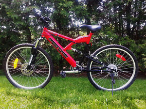 Dual suspension Supercycle mountain bike