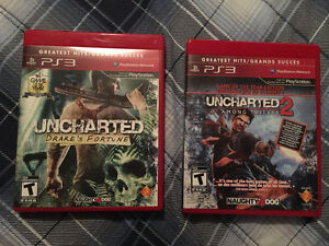 Uncharted 2 Among Thieves & Uncharted Drake's Fortune Peterborough Peterborough Area image 1