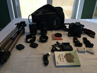 For Sale Canon EOS  Rebel T5i with lots of accessories