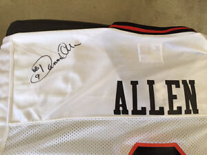 Damon Allen Signed BC Lions Jersey .. new with tags
