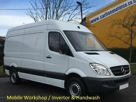 2011/60 Mercedes Sprinter 313CDI Mwb High Roof [ Mobile Workshop +Invertor ] Van