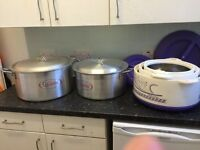 LARGE CATERING POTS AND STORAGE CONTAINERS FOR SALE £70