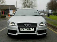 2009 09 Audi A4 2.7 TDI S Line Multitronic 4dr WITH LEATHER+SATNAV+XENONS+PDC