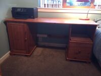 Large Pine Desk with chair