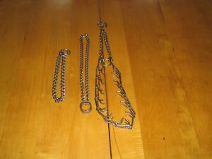 3 colliers ``chokers`` pour chiens
