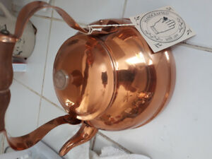 COPPER TEAPOTKitchen West Bend Coppercraft Guild Gourmet Ware C