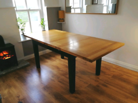 Double Extending Solid Oak Dining Table