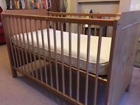 IKEA Cot/Cot Bed Wooden Birch