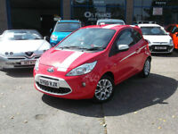 60 FORD KA GRAND PRIX 1.2 3DR £30 TAX RED/WHITE 36000 MILES FSH 5YR 0% FINANCE