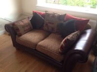 Perez 4&3 seater leather sofa excellent like brand new