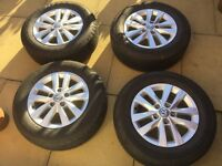 "Genuine Volkswagen Transporter 16"" Clayton Alloy Wheels & Tyres"