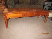 Wood Coffee Table With Pull Out Drawer